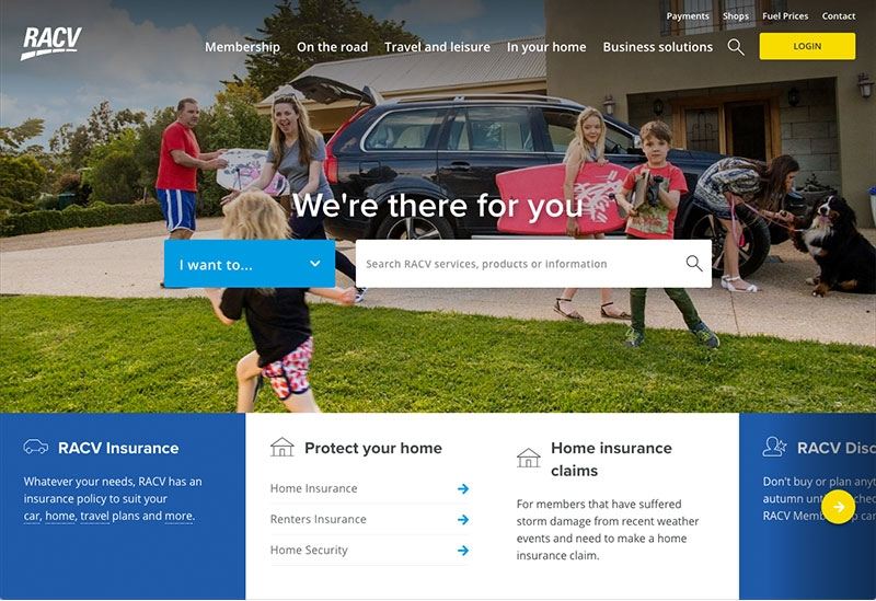 Complete thematic focused home page