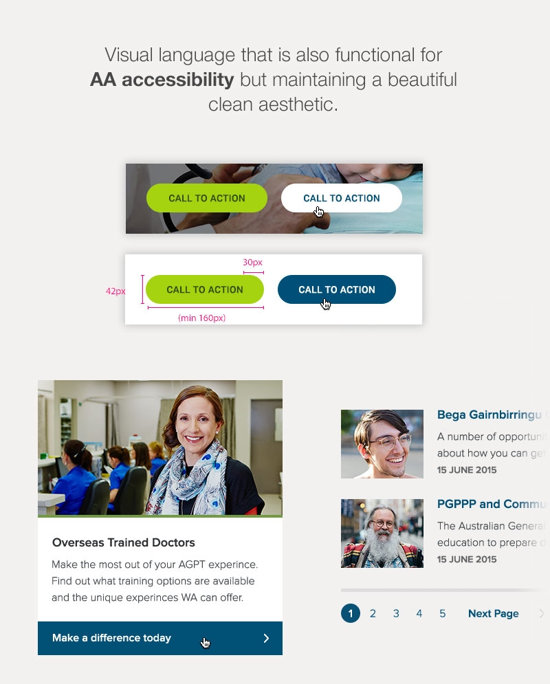 WCAG 2.0 Level AA accessibility website