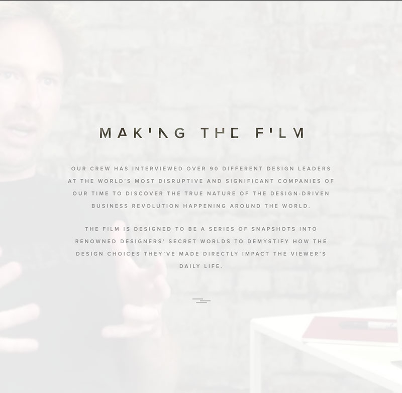 Making the film
