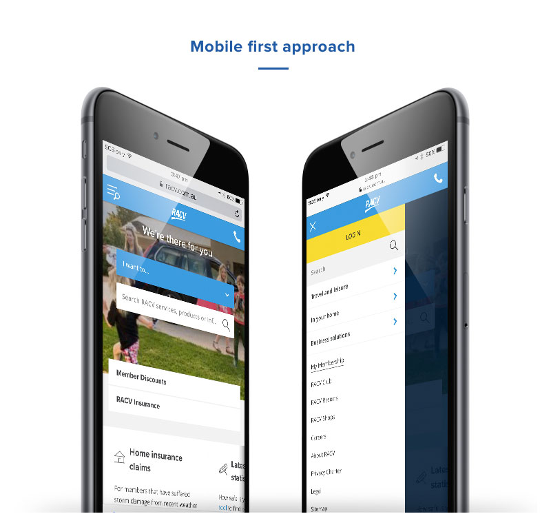 Mobile first ux approach