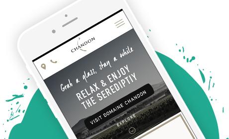 LVMH Domain Chandon Responsive Digital Website User Experience
