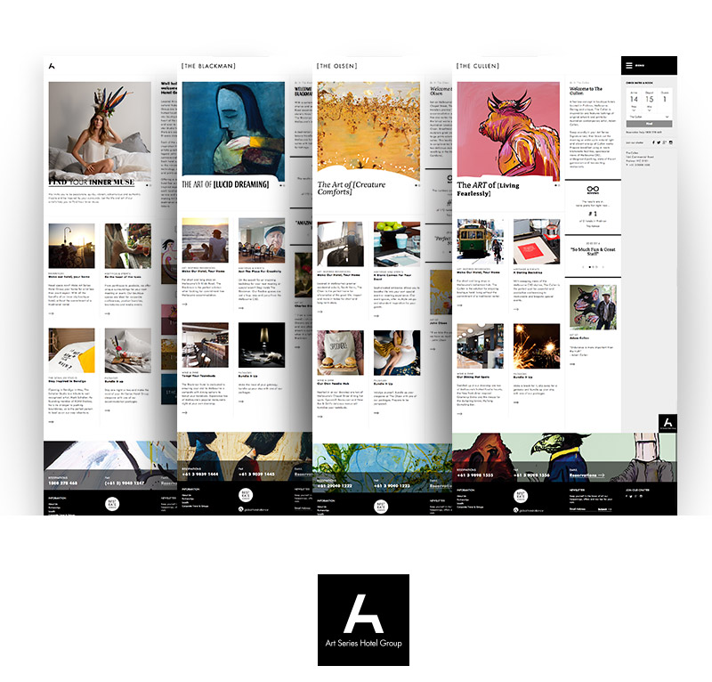 Art Series Hotel Multi-site UX Development