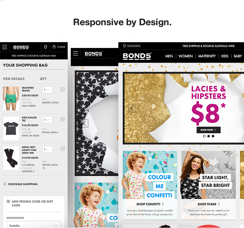bonds responsive user experience design