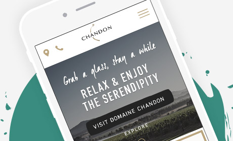 LVMH Domain Chandon Responsive Digital Website User Experience
