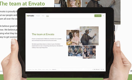 Creative new website for Aussie start up Envato