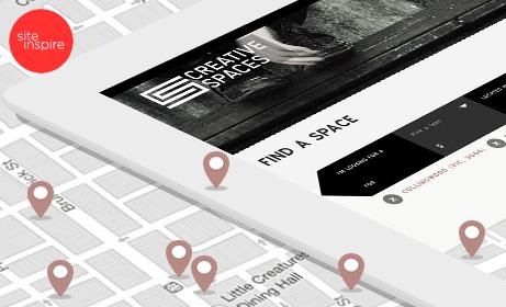 Creative Spaces Responsive Website Application