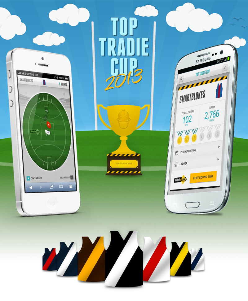 Top Tradie Cup Android and iPhone Design
